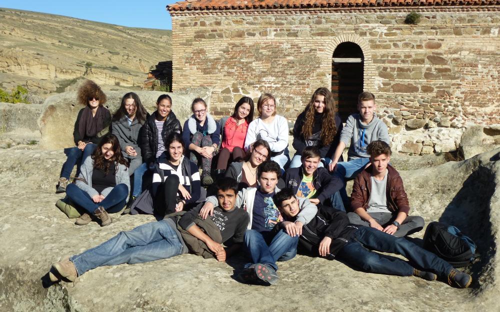 Gruppenbild in Uplistsikhe Gruppe